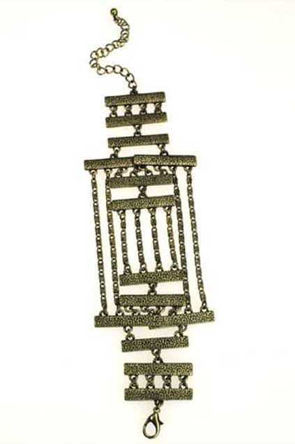 Copper Sticks And Chain Bracelet