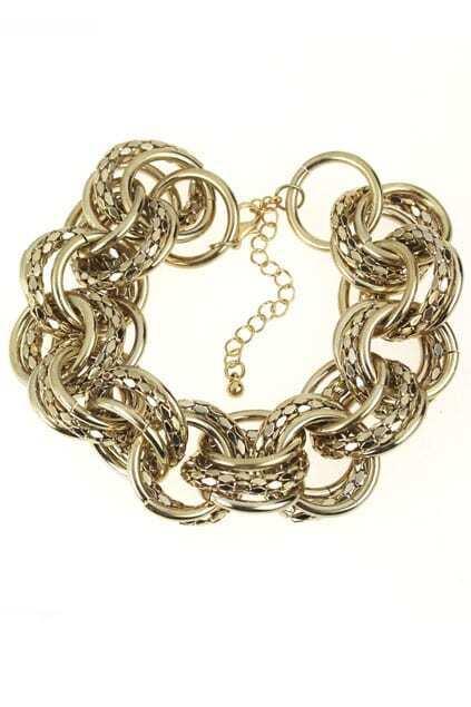 Chunky Chains Golden Bracelet