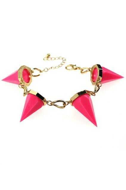 Neon Rivets Bracelet