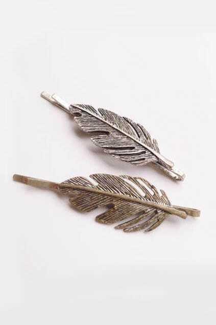 Retro Silver Leaf Clip