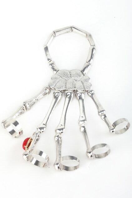 Punk Skull Diamante Bracelet