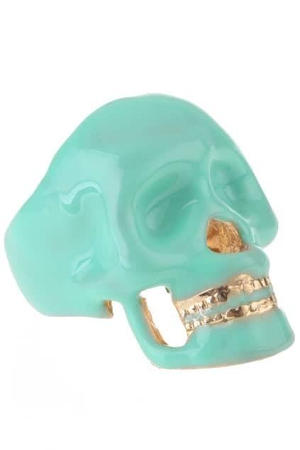 Skull Design Wide Ring