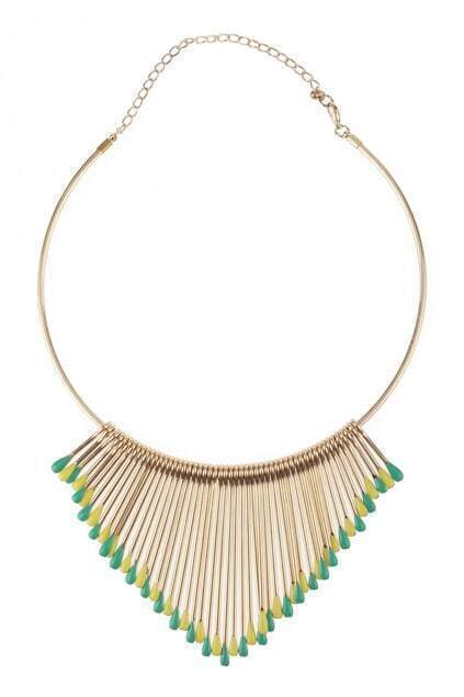Multi-matchsticks Rounded Necklace