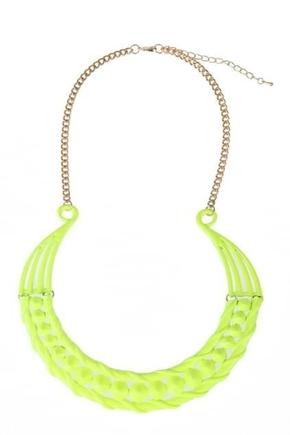Fluorescent Yellow Necklace