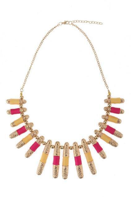 Multi Charm Gold-tone Necklace