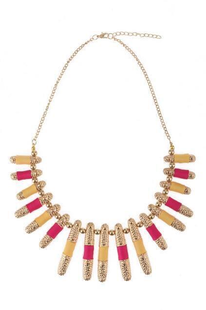 Multi Charm Gold-tone Necklace