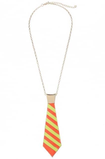 Colorful Tie Design Necklace