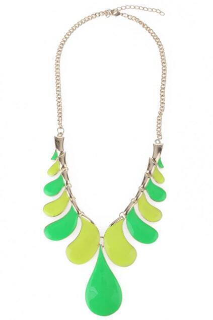 Color Block Charm Necklace
