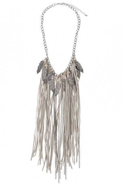 Multi-feather Drape Necklace