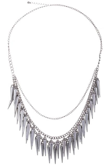 Multi-spike Charm Layered Necklace