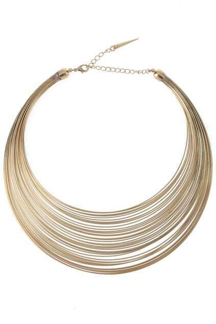 Wire-steel Design Choker Necklace