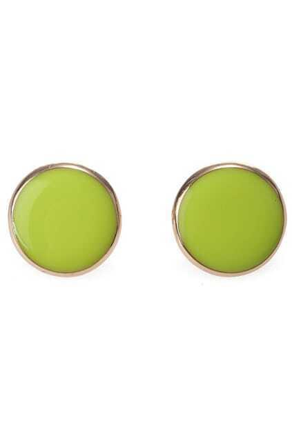 Rounded Design Stud Earrings
