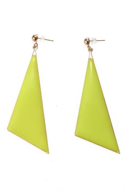 Triangle Design Drop Earrings