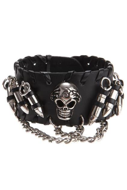 Skull Bullet Design Bracelet