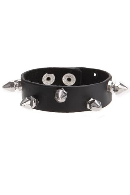 Faceted Rivets Punk Bracelet