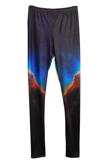 Night Sky Print Purple    Leggings
