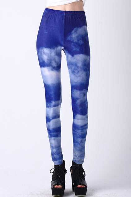 Cloud Sky Print Leggings
