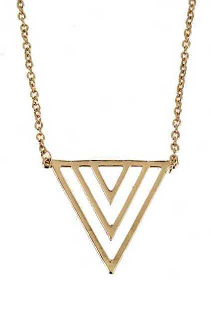 Hollow Out Neon Triangle Necklace
