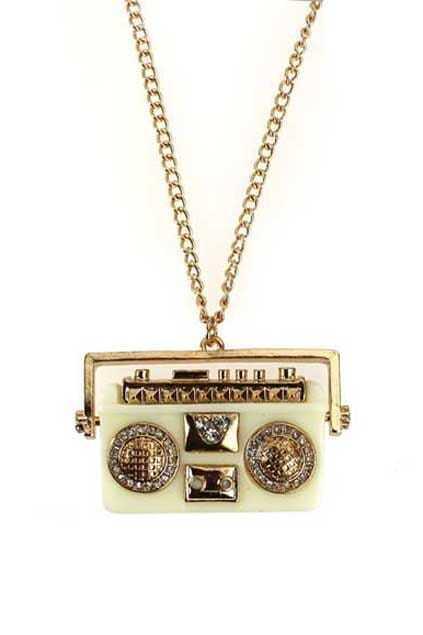 Retro Radio Necklace