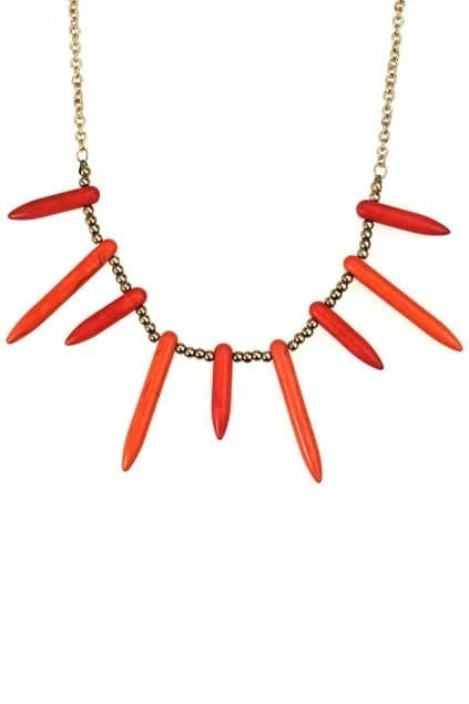 Orange Color Bullect Necklace