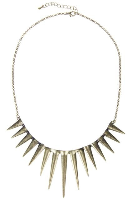 Shape Spikes Pendant Necklace