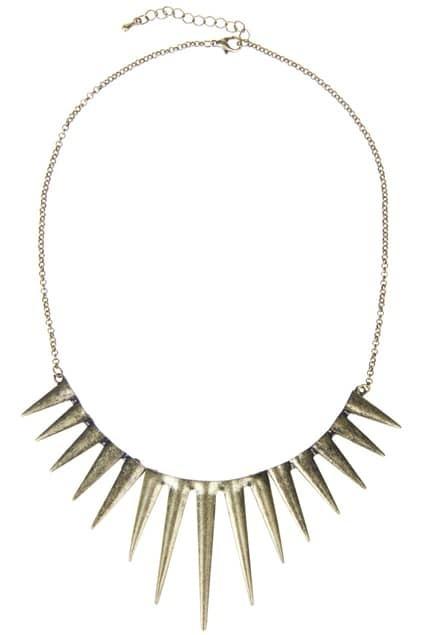 Shape Spikes Pendant Necklace
