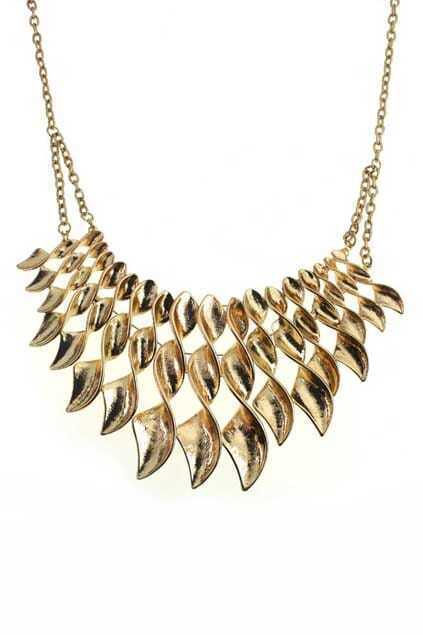Three Layered Shell Pendants Necklace