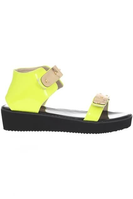 Metall Detailed Contrast Sole Sandals