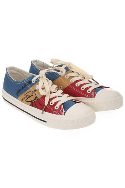 Color Contrast Canvas Shoes