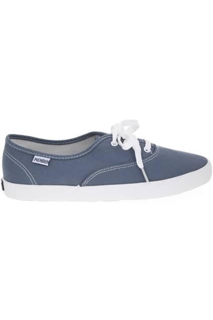 Lace Up Blue Canvas Shoes