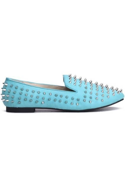 All-over Rivets Mint Shoes
