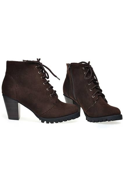 Lace Up Brown Ankle Boots
