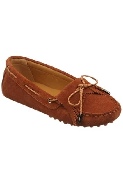 Brown Tassels Flat Shoes