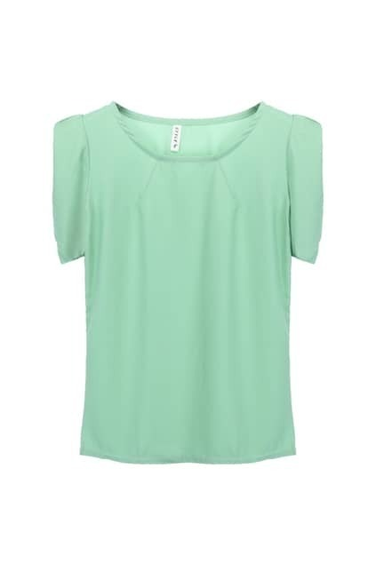 Puff Sleeves Mint Blouse