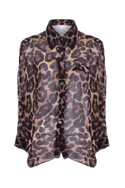 Leopard Print Batwing Blouse