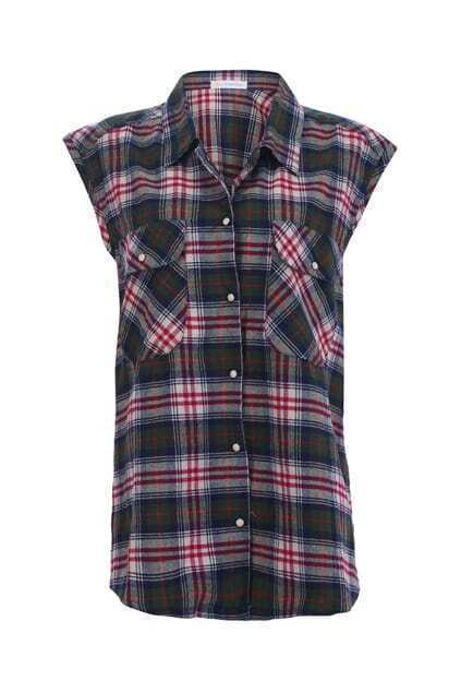 BF Check Sleeveless Shirt
