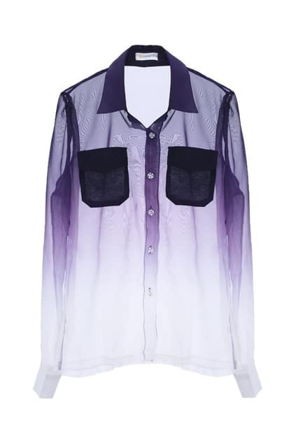 Dip Dye Sheer Shirt