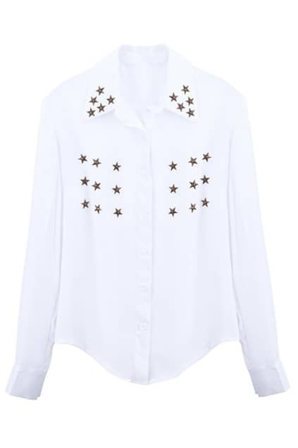 Metal Stars White Shirt