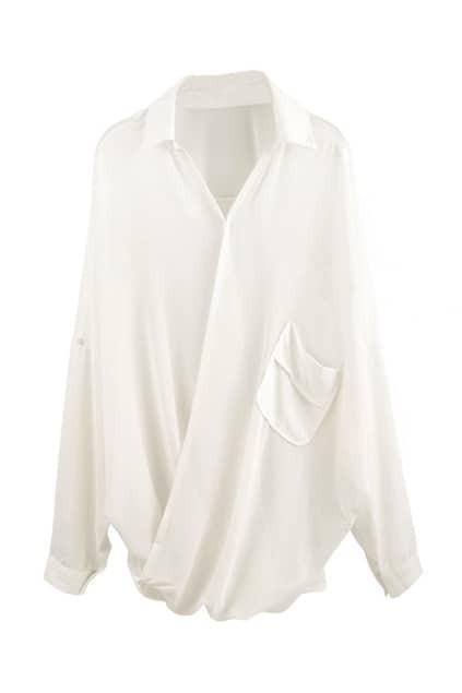 Loose Style White Chiffon Shirt
