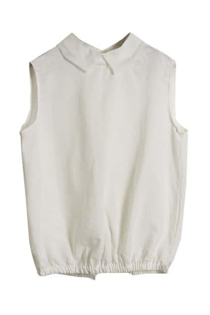 Organza Collar White Blouse