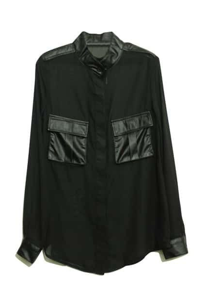 PU Montage Black Shirt