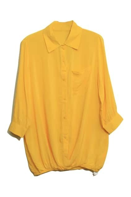 Yellow Main Lapel Blouse