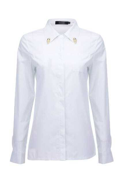 Skull Detailed White Shirt