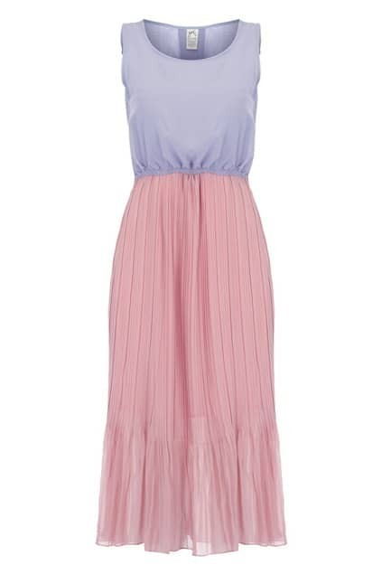Cut-out Design Pleated Dress