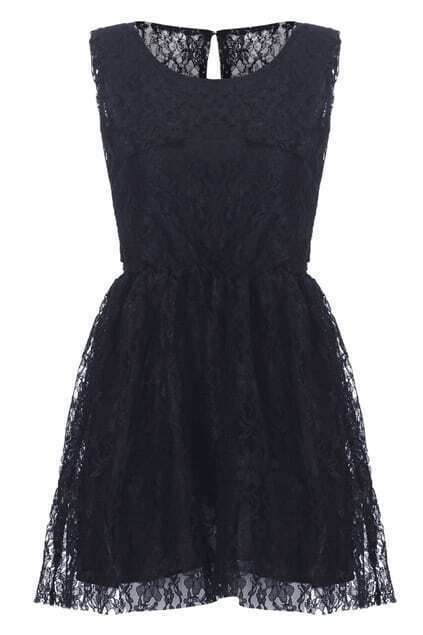 Cut-out Back Lace Shift Dress