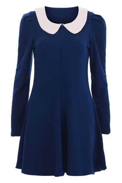 Feminine Peter Pan Collar Knitted Dress