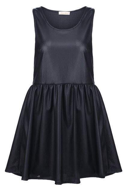 Leather-look Shift Dress