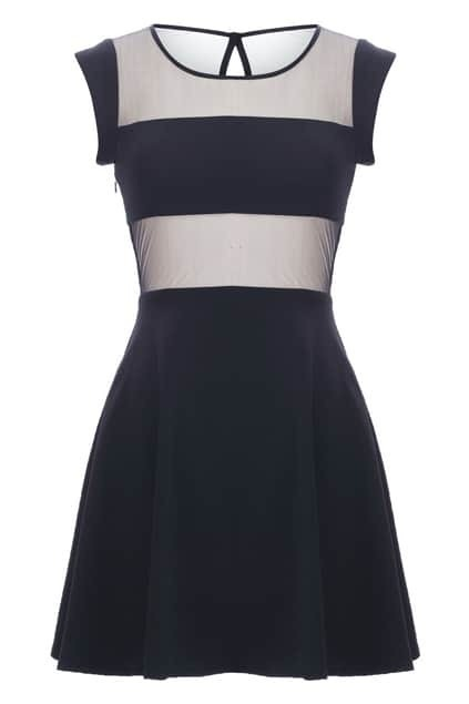 Mesh Panel Detailed Dress