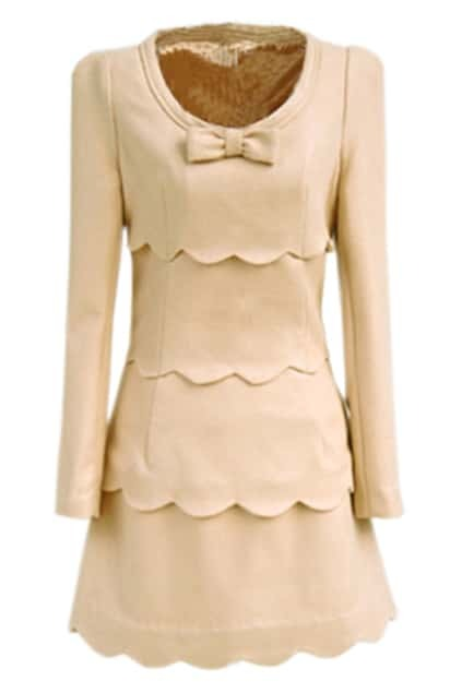 Petal Edge Cream Dress