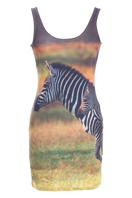 Zebra Green Dress
